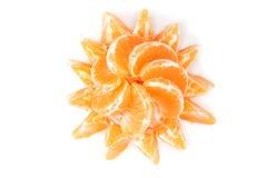 отрезает tangerine Стоковые Изображения