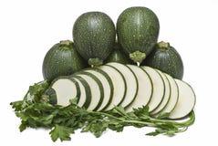 отрезает zucchini Стоковая Фотография
