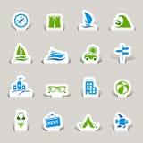 Отрезанная бумага - иконы каникулы Стоковая Фотография RF
