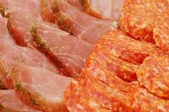 Отрезанная закуска от мясных продуктов Стоковая Фотография