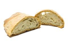 отрезанная итальянка хлеба Стоковые Фото