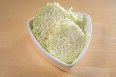 Отрезанная китайская капуста Стоковые Фото