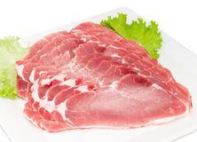 Отрезанная охлаженная поясница свинины с крупным планом салата Стоковая Фотография