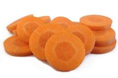 отрезанная свежая морковей Стоковая Фотография