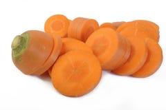 отрезанная свежая морковей Стоковое Фото