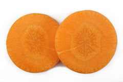 отрезанная свежая моркови Стоковое фото RF