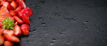 Отрезанная съемка конца-вверх клубник, селективный фокус Стоковая Фотография