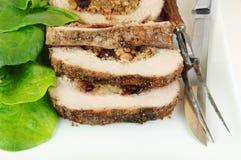 отрезанное жаркое свинины заполненным Стоковое Изображение