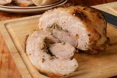 Отрезанное жаркое свинины porchetta Стоковая Фотография RF