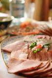 отрезанное мясо тарелки Стоковое фото RF