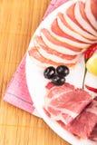 Отрезанное мясо Стоковое Фото