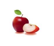 отрезанное яблоко Стоковая Фотография