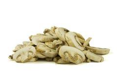 отрезанные грибы champignon Стоковое Изображение
