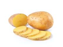 Отрезанные картошки на белой предпосылке Стоковое Изображение RF