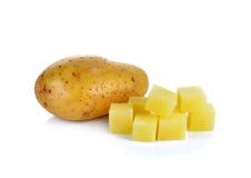 Отрезанные картошки на белой предпосылке Стоковое фото RF