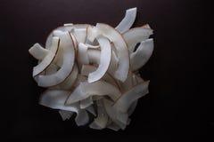 Отрезанные обломоки кокоса стоковое изображение