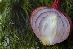 Отрезанные овощи пока варящ салат Стоковое Фото