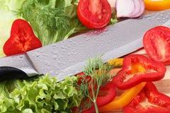 Отрезанные овощи Стоковая Фотография