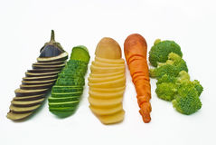 Отрезанные овощи Стоковое Фото