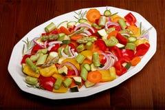 отрезанные овощи Стоковые Изображения RF