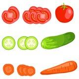 отрезанные овощи бесплатная иллюстрация