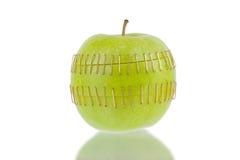 Отрезанные половины яблока Стоковая Фотография RF