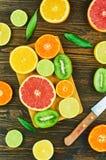 Отрезанные плодоовощи Стоковое фото RF