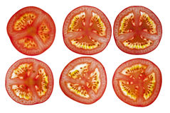 Отрезанные томаты Стоковая Фотография RF