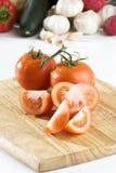 отрезанные томаты Стоковые Фотографии RF