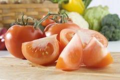 отрезанные томаты Стоковое Изображение RF