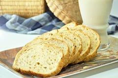 Отрезанные хлебы wholewheat Стоковое Изображение