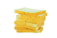 Отрезанные хлебы на белой предпосылке Стоковая Фотография