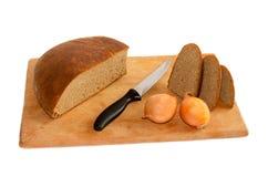 Отрезанные хлеб и луки ‹â€ ‹â€ Стоковая Фотография RF