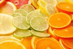 отрезанные цитрусовые фрукты Стоковая Фотография