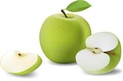 отрезанные яблоки Стоковая Фотография RF
