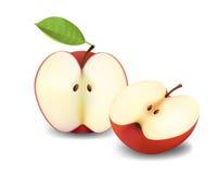 отрезанные яблоки Стоковые Изображения