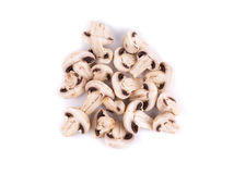 отрезанные champignons Стоковое Фото