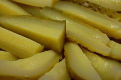Отрезанные marinated огурцы Стоковое Изображение