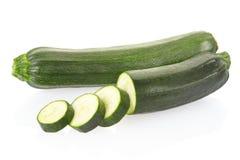 Отрезанные Zucchini или courgette Стоковое Изображение