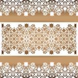 Отрезанный лазером флористический вектор картины орнамента арабескы Отрезок шаблона Стоковые Изображения