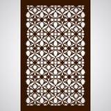 Отрезанный лазером флористический вектор картины орнамента арабескы Отрезок шаблона Стоковое Фото