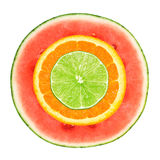 отрезанный ананас плодоовощ отрезока предпосылки половинный стоковое изображение