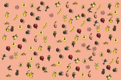 отрезанный ананас плодоовощ отрезока предпосылки половинный Стоковые Фотографии RF