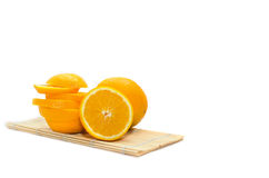 Отрезанный апельсин изолированный на белой предпосылке Стоковое Изображение