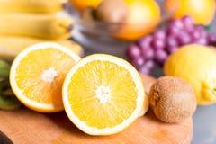 Отрезанный апельсин Стоковая Фотография