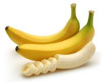 отрезанный банан стоковые изображения