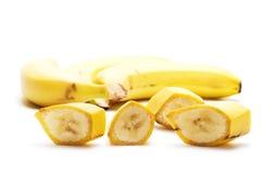 отрезанный банан стоковое фото