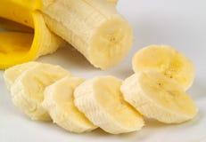 отрезанный банан стоковые изображения rf