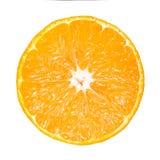 Отрезанный вокруг свежего апельсина изолированного на белизне Стоковые Фото