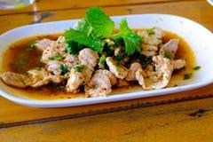 Отрезанный зажаренный салат свинины Стоковые Фото